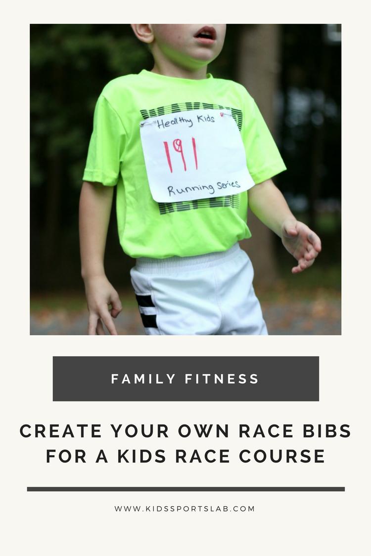 fun family fitness help kids create their own race bibs