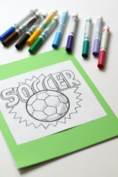 How To Make Your Own Sports-Themed Coloring Book
